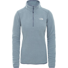 The North Face 100 Glacier 1/4 Zip Women Grisaille Grey/Flintstone Grey Stripe